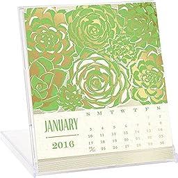 Letterpress and Foil Desk Calendar by Waste Not Paper