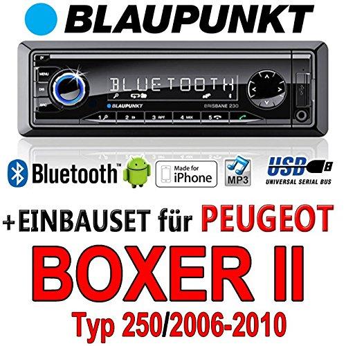 Peugeot boxer 2 brisbane bLAUPUNKT - 230/mP3/uSB avec kit de montage autoradio avec bluetooth