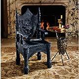 Gothic Medieval Dragon Sculptural Side Corner Chair
