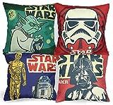 Luxbon 4 stk. Kissenbezug Star Wars Lendenkissen Bettkissen Pillowcase Haus