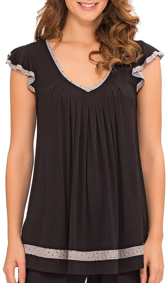 Ellen Tracy Plus Essentials Solid Pajama Top