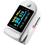 Dagamma DP150 Pulse Oximeter with Carrying Case, Batteries, Neck/Wrist Cord & One-Year Warranty Advanced LCD Screen (White Pearl)