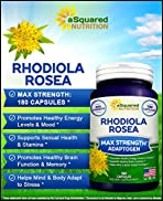 Pure Rhodiola Rosea Supplement - 180 Capsules - Max Strength Rhodiola Root Extract Pills to Improve Energy, Brain Function & Stress Relief - Natural Golden Root Herb Powder Tablets for Men & Women