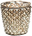 Insideretail 7 cm Diamond Tea Light Holders, Set of 6, Antique Silver from Insideretail