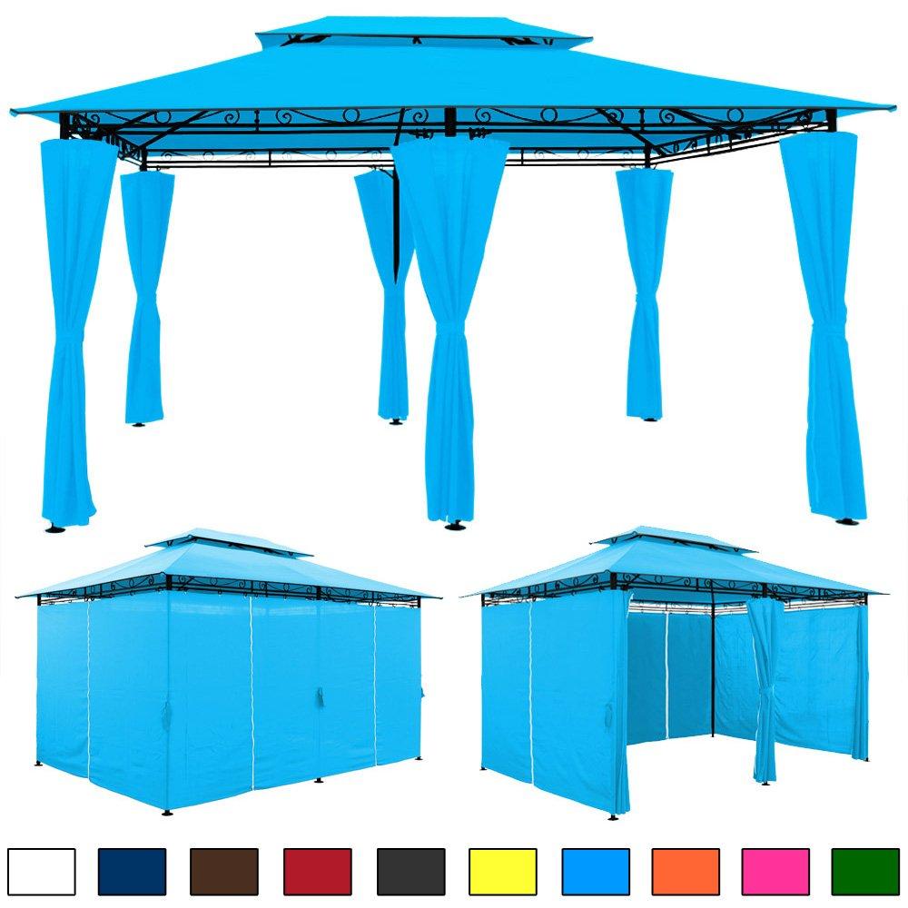 4×3 Pavillon blau GARTENZELT günstig bestellen