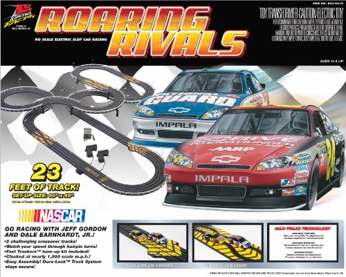 Race Track And Car Set Life Like Roaring Rivals Electric Nascar