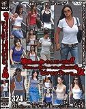 強調される胸・ウエスト・お尻!!いやらしいボディーラインを見せ付ける〝ピチピチTシャツ〟の女 [DVD]