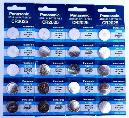 Panasonic Cr2025 Lithium 3 Volt Watch Battery 20 Pack | (4) 5 Packs Of Genuine Panasonic Blister Pack Coin Cell Batteries For Watches, Remotes, Key Fobs, Electronics