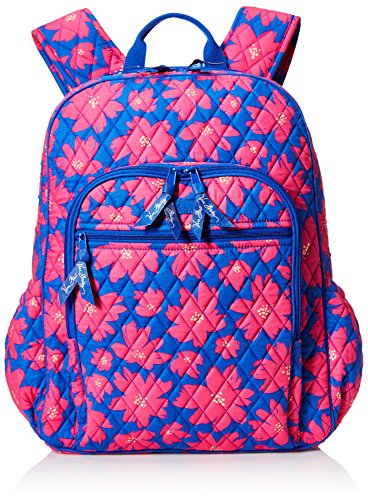 Vera Bradley Womens Campus Tech Backpack Art Poppies
