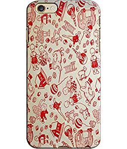 EU4IA Animation Design Pattern MATTE FINISH 3D Back Cover Case For iPhone 6 - D441