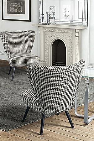MY-Furniture DAPHNE gepolsterter Lounge-Sessel mit Ruckenring