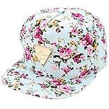 Blumendruck Snapback Cap Floral Hip Hop Baseballkappe Flat Schildmütze mit