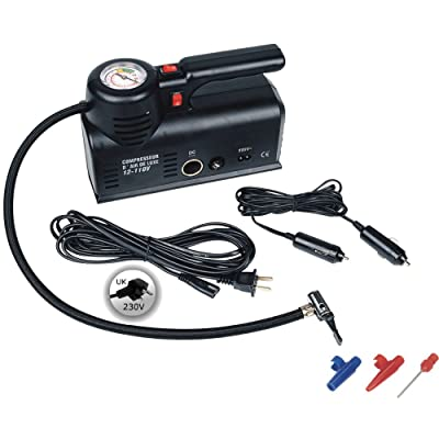 Kensun D1002 AC (Home 110V)/ DC (12V Car) Portable Air Compressor Tire Inflator