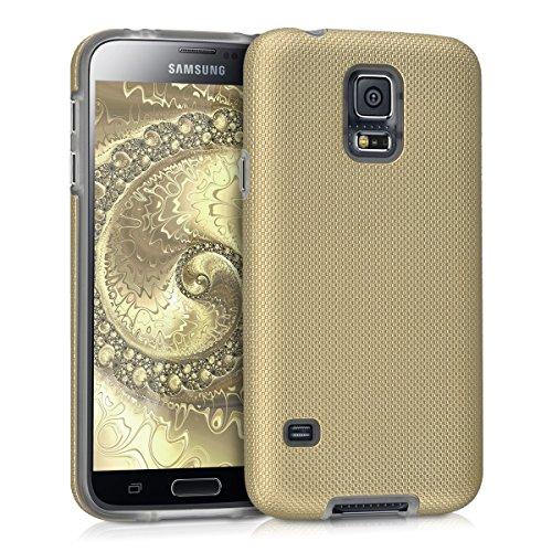 kalibri-Armor-Schutzhlle-fr-Samsung-Galaxy-S5-S5-Neo-S5-Duos-Hybrid-Dual-Layer-TPU-Silikon-Schale-und-PC-Case-in-Champagner
