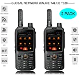 Nice INRICO T320 3W Wireless 4G LTE Network intercom transceiver Mobile Phone Radio with Full keypad Wholesale Wireless Network Walkie Talkie 4000mAh 2 Pack (Black)