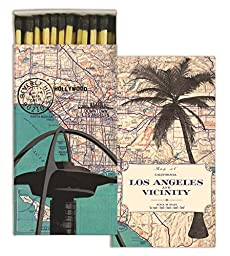 HomArt Matches - Map - Los Angeles (Set of 6)