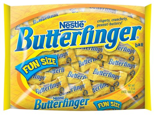 Nestle Butterfinger, , Fun Size Bigger Bag, 24-Ounce Bags (Pack Of 4) front-957705