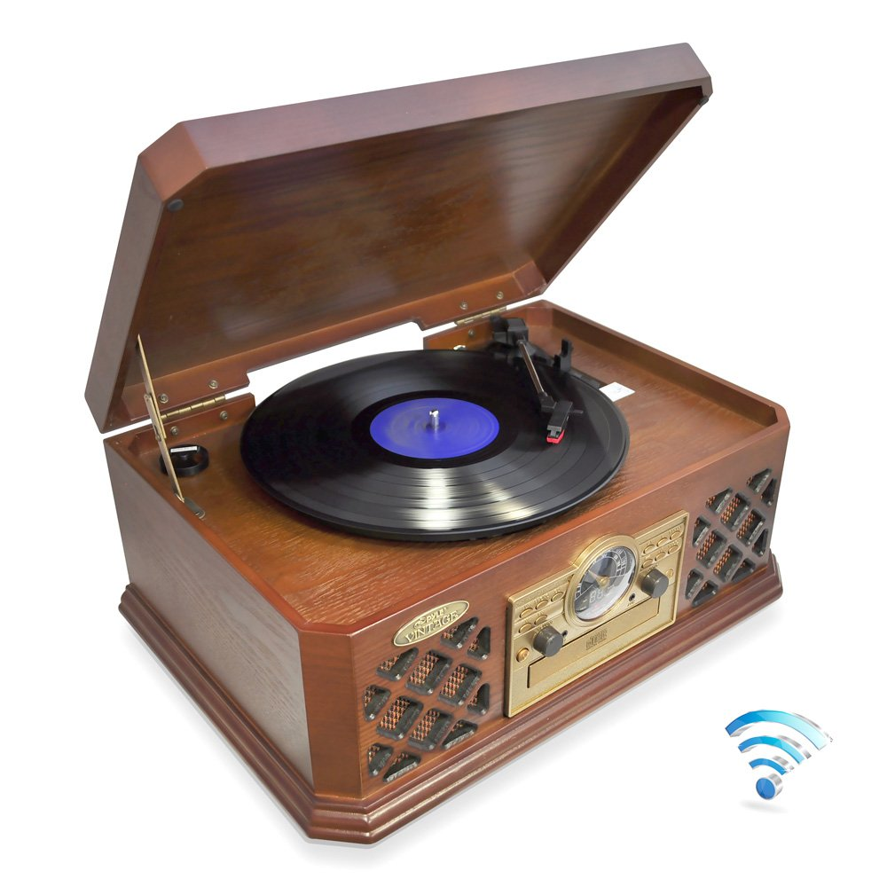 This is a fantastic vintage vinyl record player.
