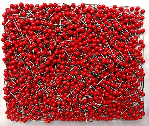 1/8 Inch Map Tacks (Red) 200-count