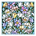 Spring Flowers inspired by the work of Art Nouveau and Stained Glass Artist Louis Comfort Tiffany Counted Cross Stitch Chart from Watercolor