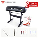 Vinyl Cutter 24 inch LCD Screen Contour Cutting for Stickers Decals Automatic vectorization Custom Model for Vinyl Cutting STM Robotics Design Pro Software USB Connection Knives Included Plotter
