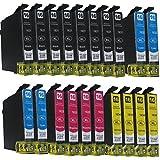 20 komp. Druckerpatronen für Epson WorkForce WF 2010 2510...