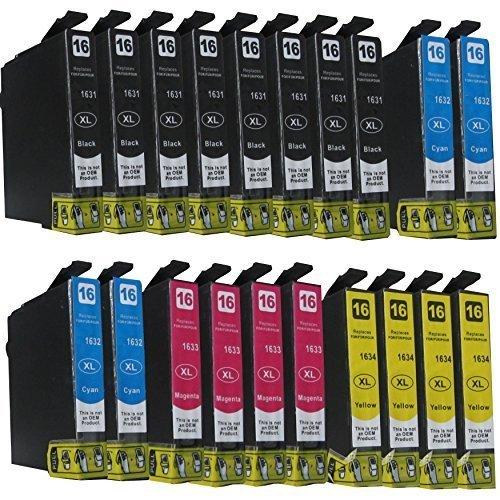 20-komp-Druckerpatronen-fr-Epson-WorkForce-WF-2010-2510-2520-2530-2540-2630-2650D-2660-W-WF-NF-DWF-Sie-bekommen-8-x-Schwarz-4-x-Blau-4-x-Rot-4-x-Gelb-kompatibel-zu-T1636-T1631-T1632-T1633-T1634