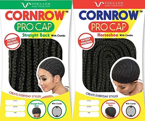 [Vivica A. Fox Cornrow Procap with Combs Horseshoe and Straight Back Multi Pack (Small 1B)] (Cornrow Wigs)