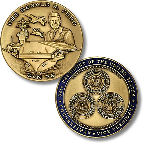 USS Gerald R. Ford (CVN-78) Challenge Coin (Uss Ford compare prices)