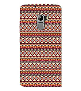 PrintDhaba Tribal Pattern D-5423 Back Case Cover for LENOVO K4 NOTE A7010a48 (Multi-Coloured)