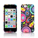 Juju Village Swirls Polka Dot Jelly Fish Soft Gel Case Cover Skin For Apple iPhone 5C With Screen Protector & Stylus