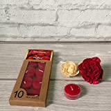 Devinez Scented Strawberry Smokeless Tealight Candles With Crystal Case, (Pack Of 10), 4.5 Hour Buring