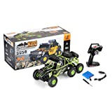 Amyove Car Model Toy Wltoys 18628 1:18 Electric Six-wheel Drive Climbing RC Car with LED Light RTR