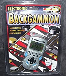Electronic e-Backgammon Handheld Game