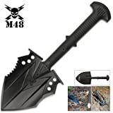 M48 Kommando Survival Shovel (Color: Black, Tamaño: One Size)