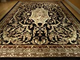 Large 8x11 Persian Style Rug Black Oriental Rugs Area Rug 8x10 Persian Classic Carpet 8x11 Rugs Living Room Size Traditional Rugs (Large 8x11)