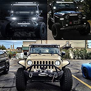 Zmoon LED Light Bar for Jeep 14 60W 6000lm Driving Lights Led Fog Light Jeep Lights Boat Super Bright Led Off Road Trucks