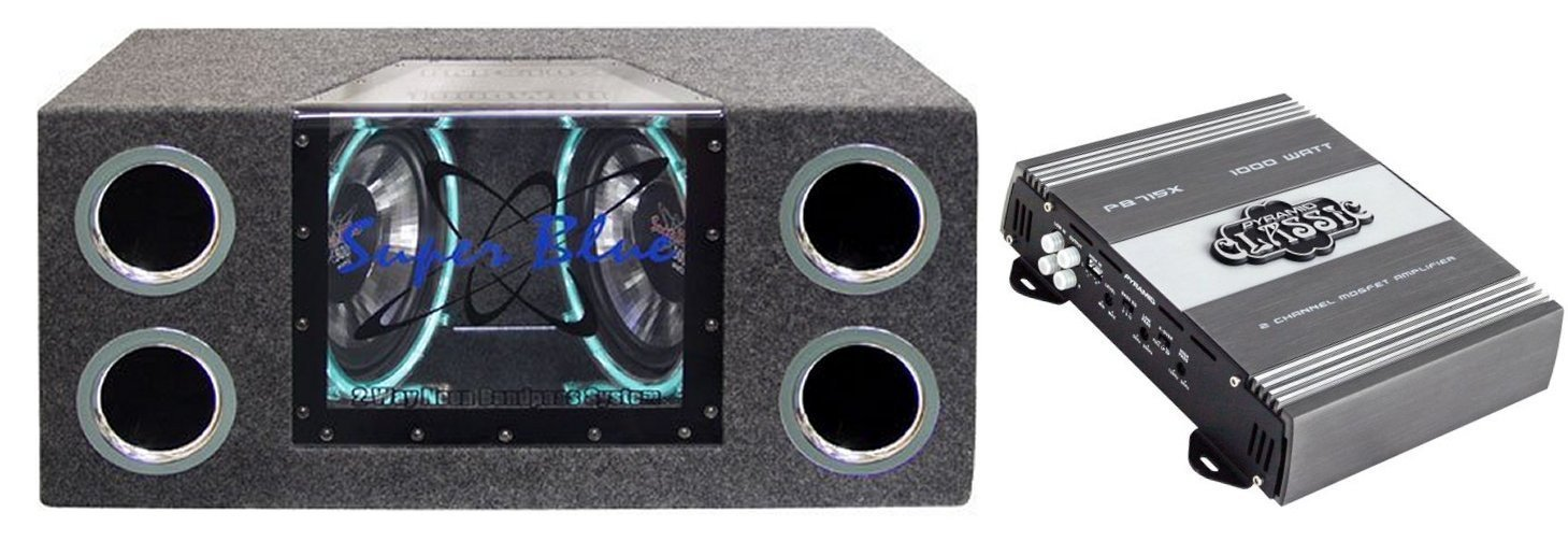PYRAMID BNPS102 10 1000W Subwoofer Enclosure Subs Box + Pyramid Amplifier Amp aluminum project box splitted enclosure 25x25x80mm diy for pcb electronics enclosure new wholesale