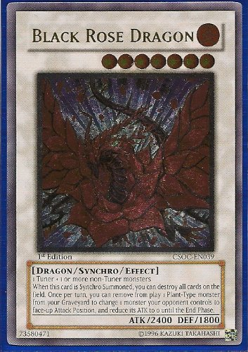 Yu-Gi-Oh! - Black Rose Dragon (CSOC-EN039) - Crossroads of Chaos - Unlimited Edition - Ultimate Rare - 1