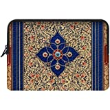 Traditional Paisley Floral Flower Pattern Bohemian Apple Macbook, Macbook Air 13 inch Laptop Sleeve Case Bags (Two Sides)
