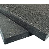 "Rubber-Cal Heavy Duty Appliance Mat - 3/4"" x 3ft Wide x 4ft Long - Black Rubber Floor Protection Mat"