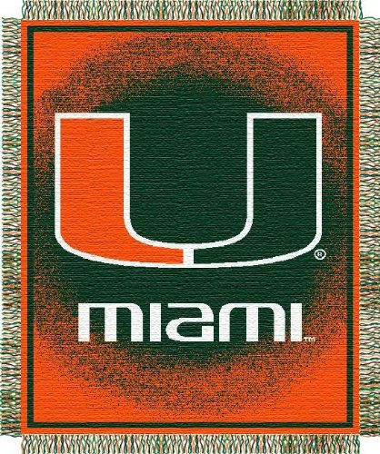 Miami Hurricanes 48x60 Triple Woven Focus Jacquard Throw