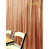 ShiDianYi 4FTX6FT-Rose Gold-SEQUIN PHOTO BACKDROP, Wedding Photo Booth,Photography Background (Rose Gold) (Color: Rose Gold, Tamaño: 4FTx6FT)