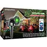 Greenpro Outdoor Indoor All Weather Waterproof Star Laser Projector Christmas Decoration Lights With Wireless Remote
