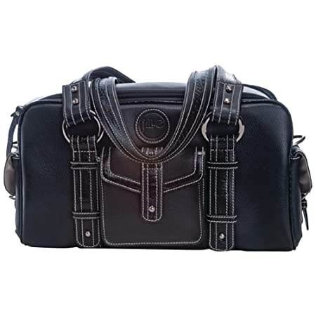 Jill-e Petit sac en cuir pour Appareil Photo Noir