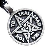 OhDeal4U Pentagram Tetragrammaton Talisman for Divine Guidance Knowledge Pewter Pendant Charm