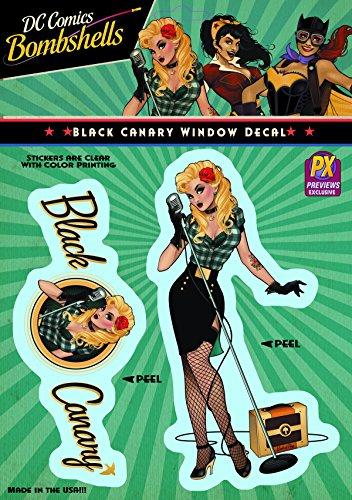 Elephant Gun DC Bombshells: Black Canary Vinyl Decal - 1