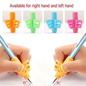 Pencil Grips - 6 Pack Pencil Grips for Kids Handwriting, Ergonomic Writing Training Aid Correction Silicon Gel Pencil Grip for Children Preschoolers (Tamaño: Six)