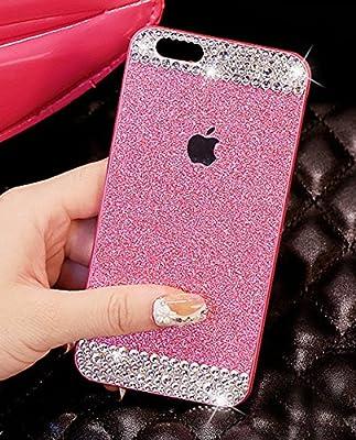 Top Selling (TM) iPhone 6 plus case, Beauty Fashion Luxury Diamond Hybrid Glitter Bling hard Shiny Sparkling with Crystal Rhinestone Cover Case for Apple iPhone 6 plus + Bonus Top Selling Logo Stylus