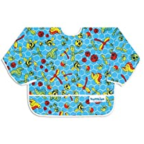 Bumkins Waterproof Sleeved Bib - Blue Bug